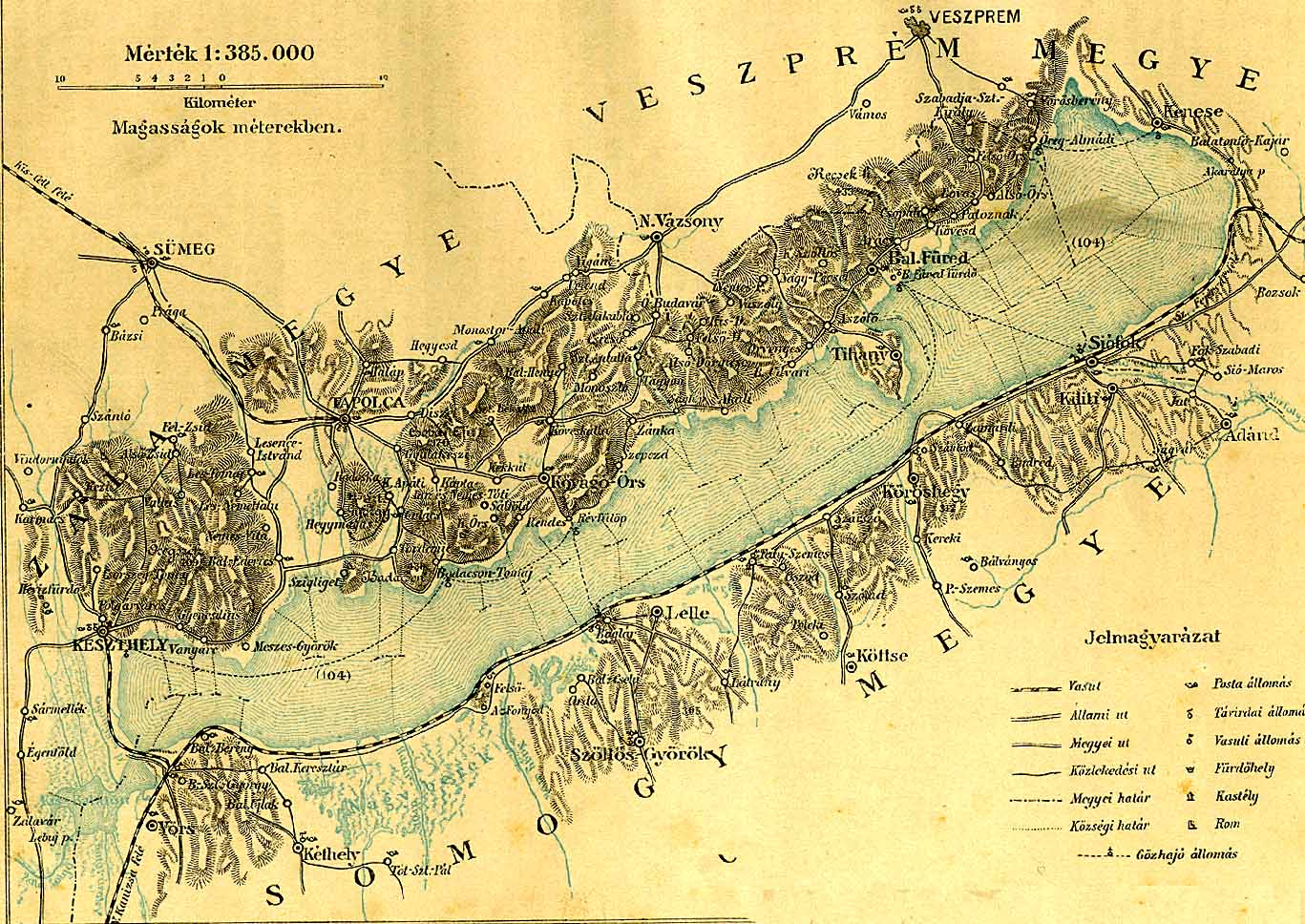 balaton domborzati térkép Balaton és környéke [Digitális Képarchívum   DKA 000437] balaton domborzati térkép