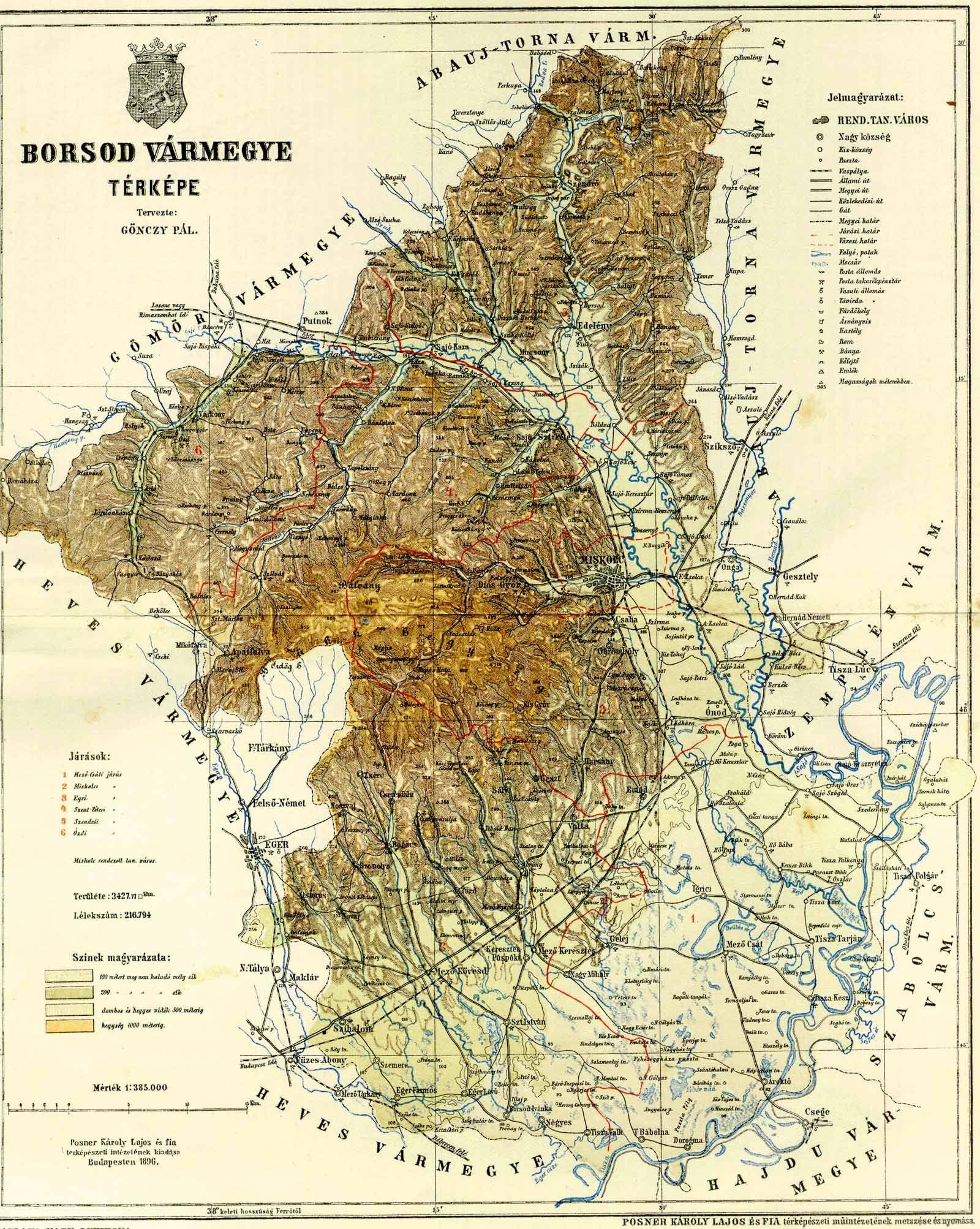 borsod térkép Borsod vármegye térképe [Digitális Képarchívum   DKA 000457] borsod térkép