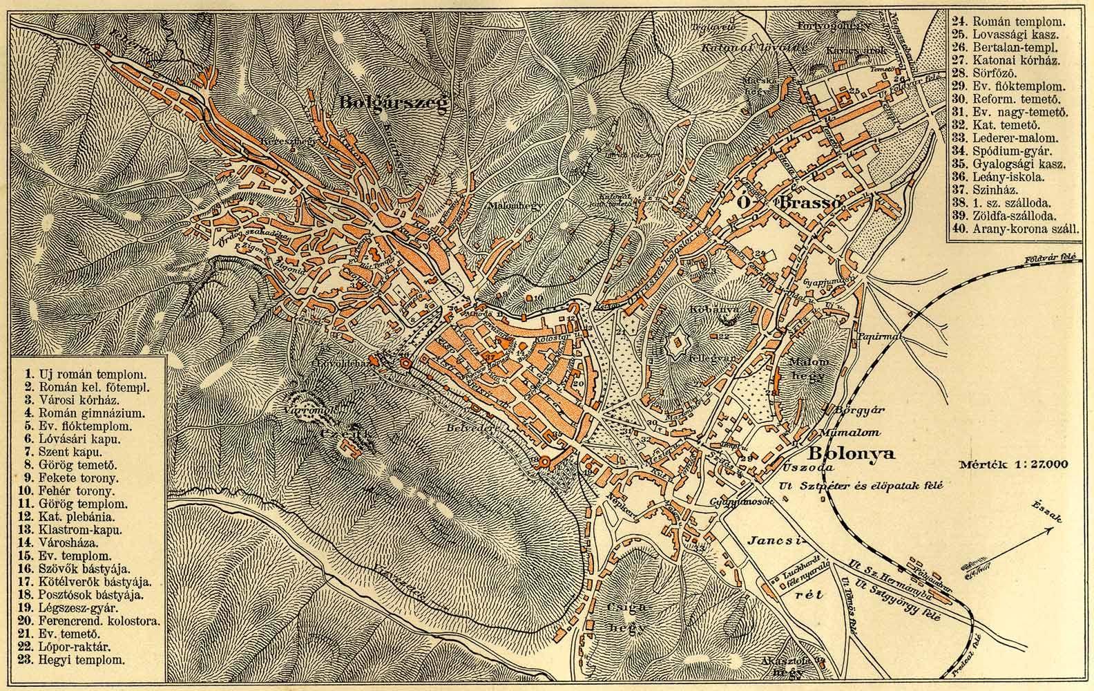 Brassó térkép