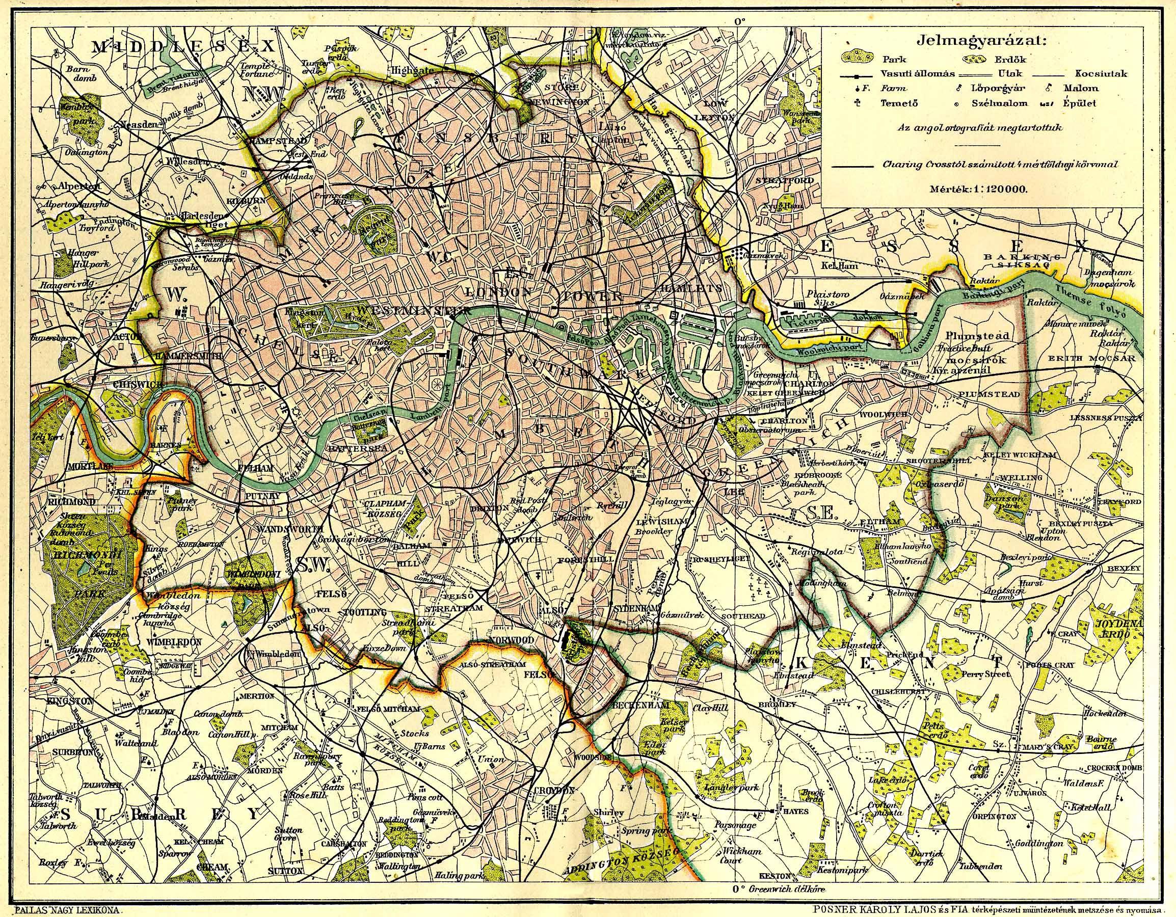 london térkép London [Digitális Képarchívum   DKA 000582] london térkép