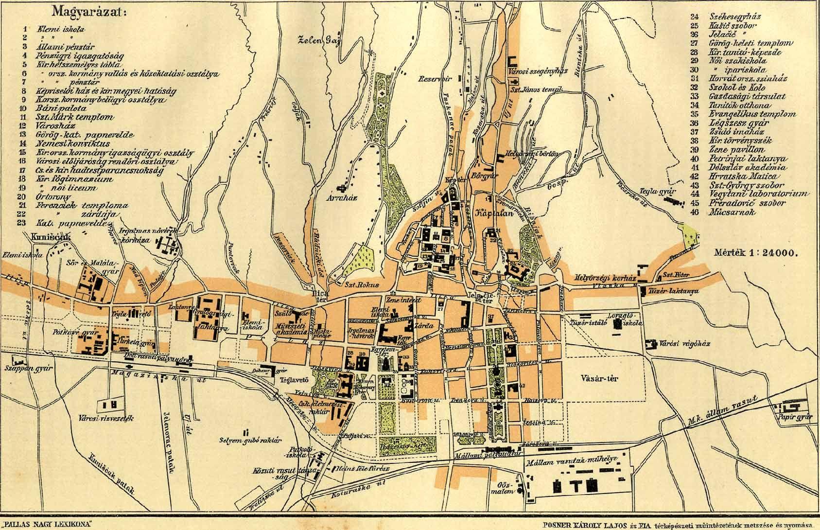 zágráb térkép Zágráb [Digitális Képarchívum   DKA 000682] zágráb térkép