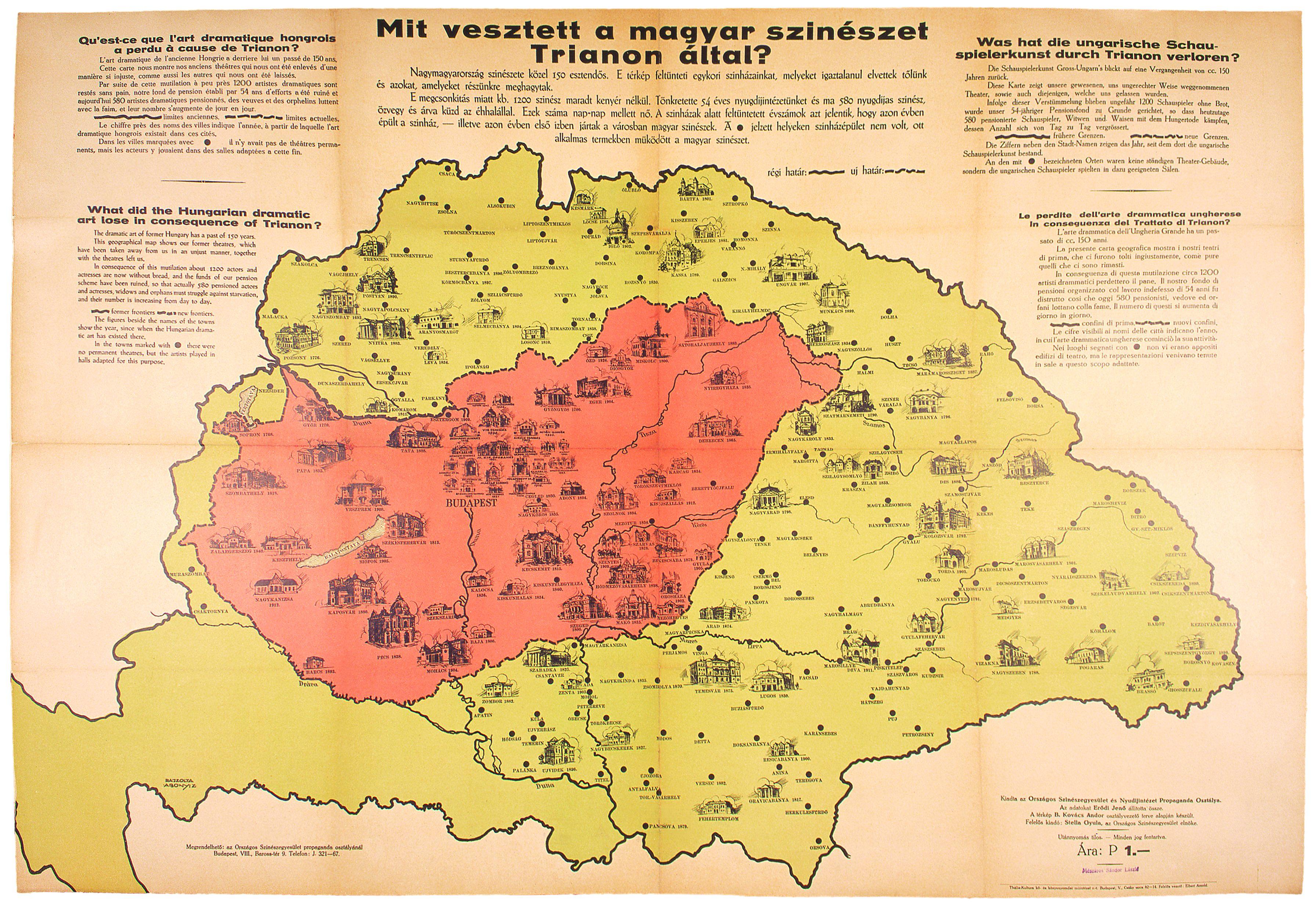 trianon térkép Mit vesztett a magyar szinészet Trianon által?   az Országos  trianon térkép
