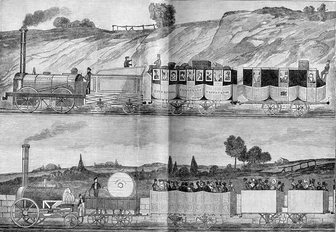 Első vasútvonal angliában